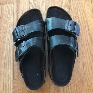 Birkenstock Arizona Metallic Anthracite 6-6.5/37